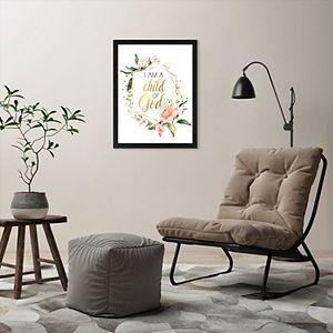 Americanflat Floral Child Of God Framed Wall Art