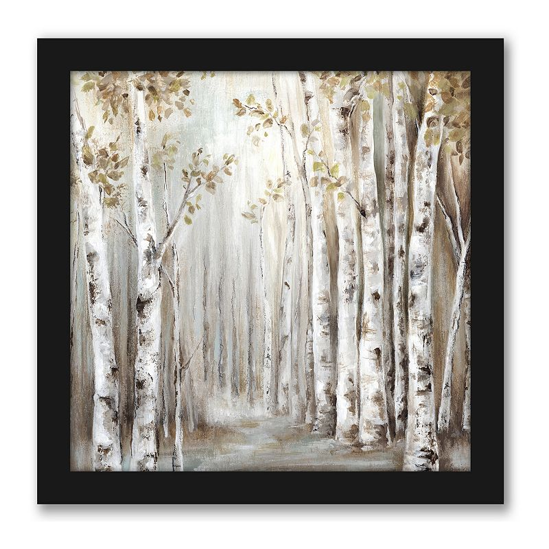 Americanflat Sunset Birch Forest Wall Decor. Multicolor. 15X15