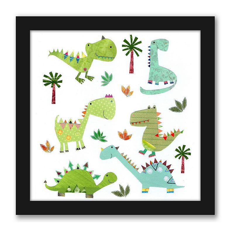 Americanflat Cute Dinosaurs Wall Decor, 15X15