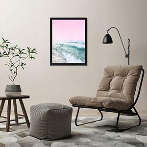 Americanflat Pink Sky Ocean Wall Art by Sisi and Seb