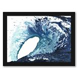 Americanflat Pool Wave Wall Art by Kate Shephard