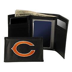 Chicago Bears Trifold Leather Wallet