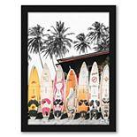 Americanflat Hawaii Surfboard Wall Art by Tanya Shumkina