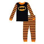 Toddler Boy DC Comics Batman Striped Halloween Pajamas