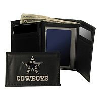 Dallas Cowboys Trifold Leather Wallet
