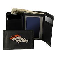 Denver Broncos Trifold Leather Wallet