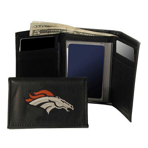 Denver Broncos Trifold Leather Wallet