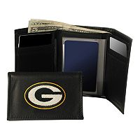 Green Bay Packers Trifold Leather Wallet