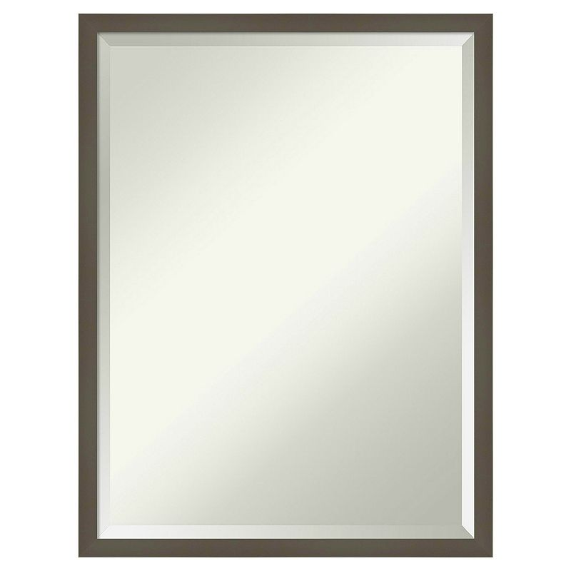 Amanti Art Svelte Clay Grey Wall Mirror, 29X23