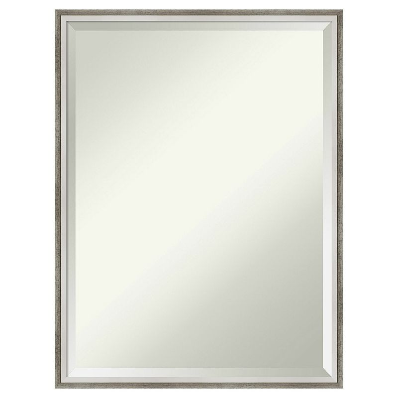 Amanti Art Lucie White & Silver Wall Mirror, 17X21