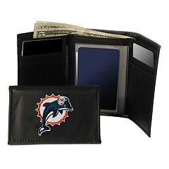 Miami Dolphins Trifold Leather Wallet