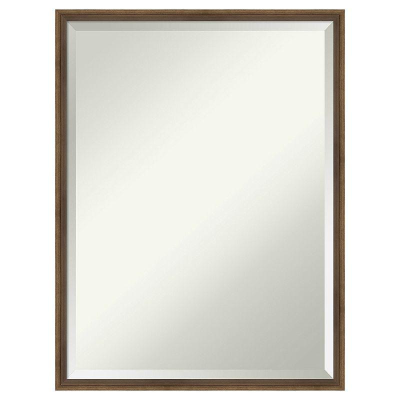 Amanti Art Lucie Light Bronze Bathroom Vanity Wall Mirror, Brown, 29X23