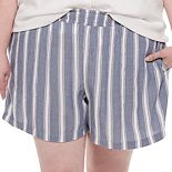 Plus Size EVRI? Smocked Pull-On Shorts