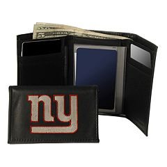 New York Giants Trifold Leather Wallet