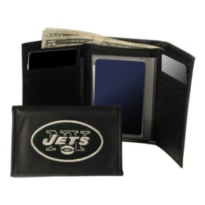 New York Jets Trifold Leather Wallet