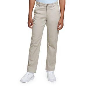Boys 4-20 & Husky Chaps Flat Front Comfort Slim Fit Pants