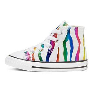 Toddler Girls' Converse Chuck Taylor All Star Zebra High Top Shoes