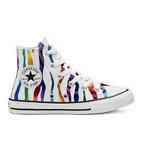 Girls' Converse Chuck Taylor All Star Zebra High Top Shoes