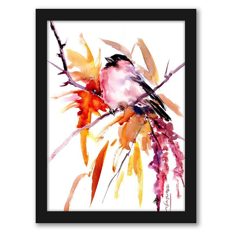 Americanflat Bullfinch Fall Wall Art, 12X15