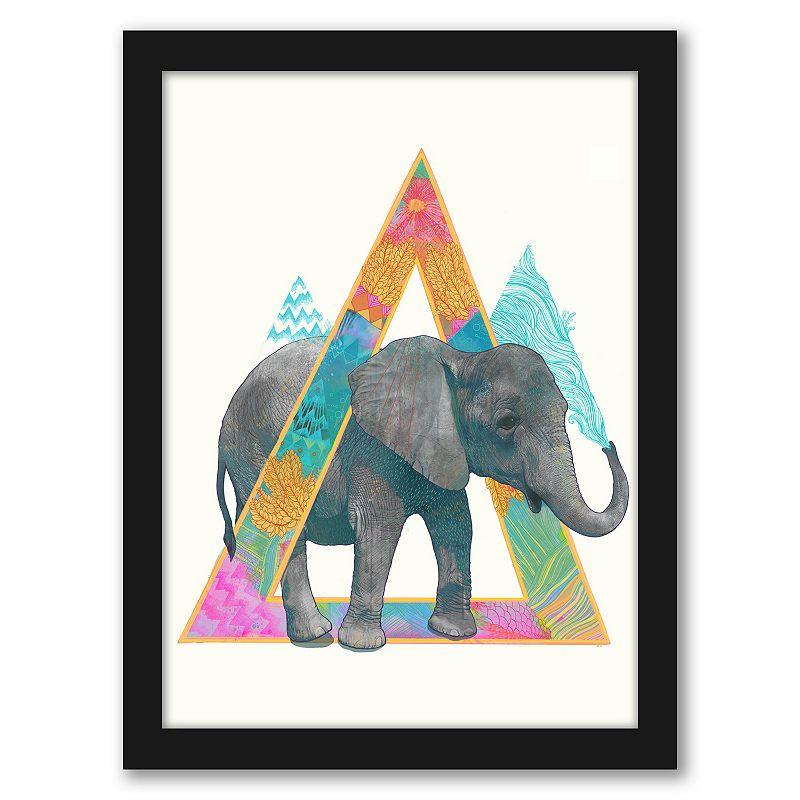 Americanflat Elephant 1 Framed Wall Art, 19X25