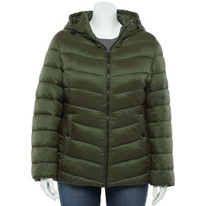 Juniors' Plus Size madden girl Packable Puffer Jacket