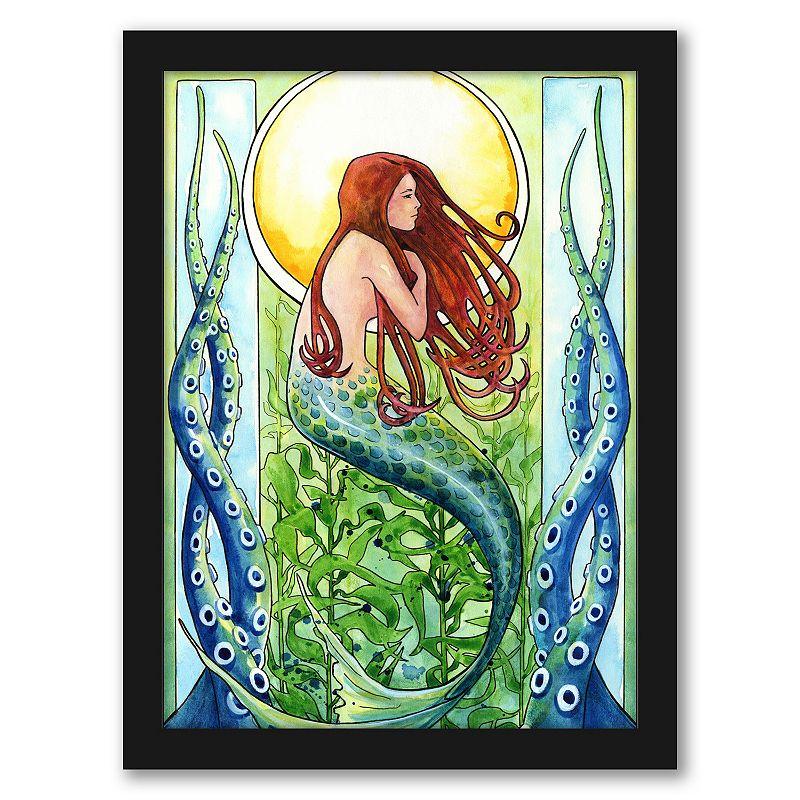 Americanflat Kelp Forest Mermaid Wall Art, 12X15