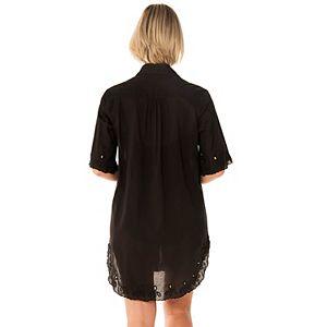 Women's PB Sport Eyelet Trim Cover-Up Shirt