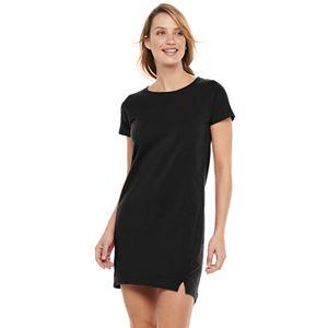 Petite Tek Gear® French Terry T-Shirt Dress