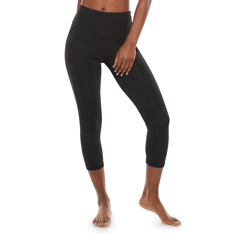 Women's Adrienne Vittadini Basic Capri Leggings. Size: Small. Black