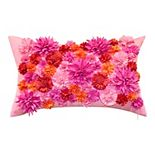 Edie@Home Floral Bouquet Dimensional Indoor & Outdoor Decorative Lumbar Pillow