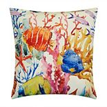 Edie@Home Sealife Beaded & Embroidered Decorative Throw Pillow