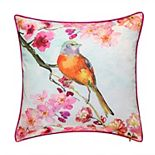 Edie@Home Reversible Birds Throw Pillow
