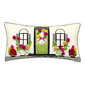 Edie@Home Dimensional Flowers Home Throw Pillow