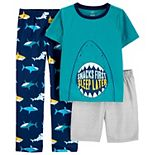 Boys 4-12 Carter's 3-Piece Shark Poly Pajama Set