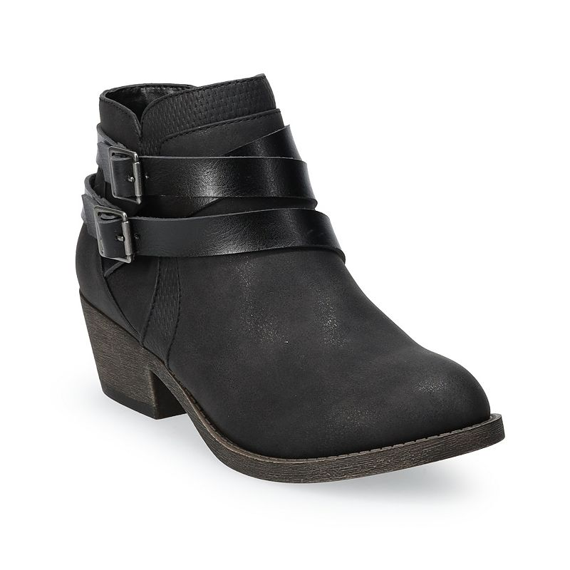 SO Basking Women's Ankle Boots, Size: 10 Wide, Dark Grey