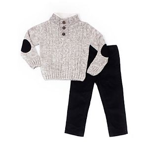 Toddler Boy Little Lad 2 Piece Knit Sweater & Pants Set