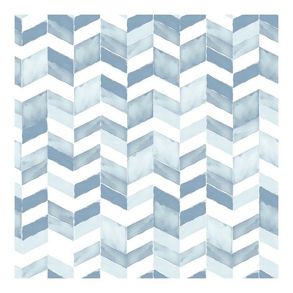 Roommates Watercolor Chevron Peel Stick Wallpaper