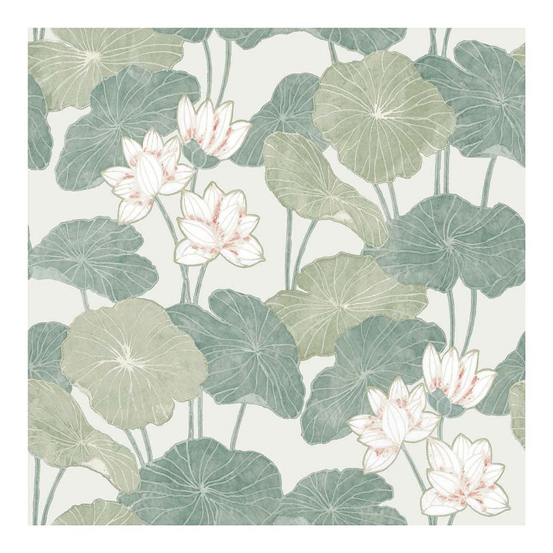 RoomMates Lily Pad Peel & Stick Wallpaper. Multicolor
