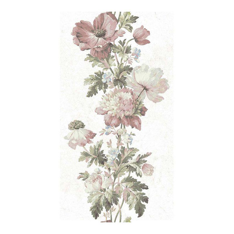 RoomMates Vintage Floral Stripe Peel & Stick Wallpaper. Multicolor