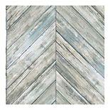 RoomMates Herringbone Faux Board Peel & Stick Wallpaper
