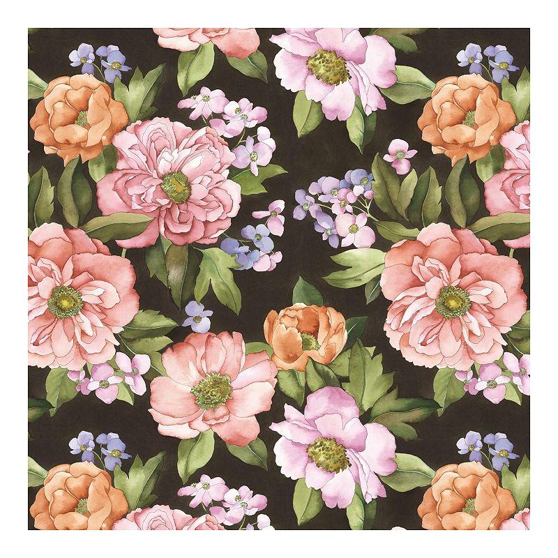RoomMates Watercolor Floral Bouquet Peel & Stick Wallpaper. Multicolor