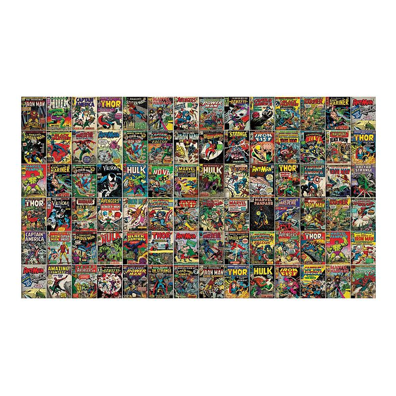 Marvel Comic Covers Peel & Stick Wallpaper Mural by RoomMates. Yellow