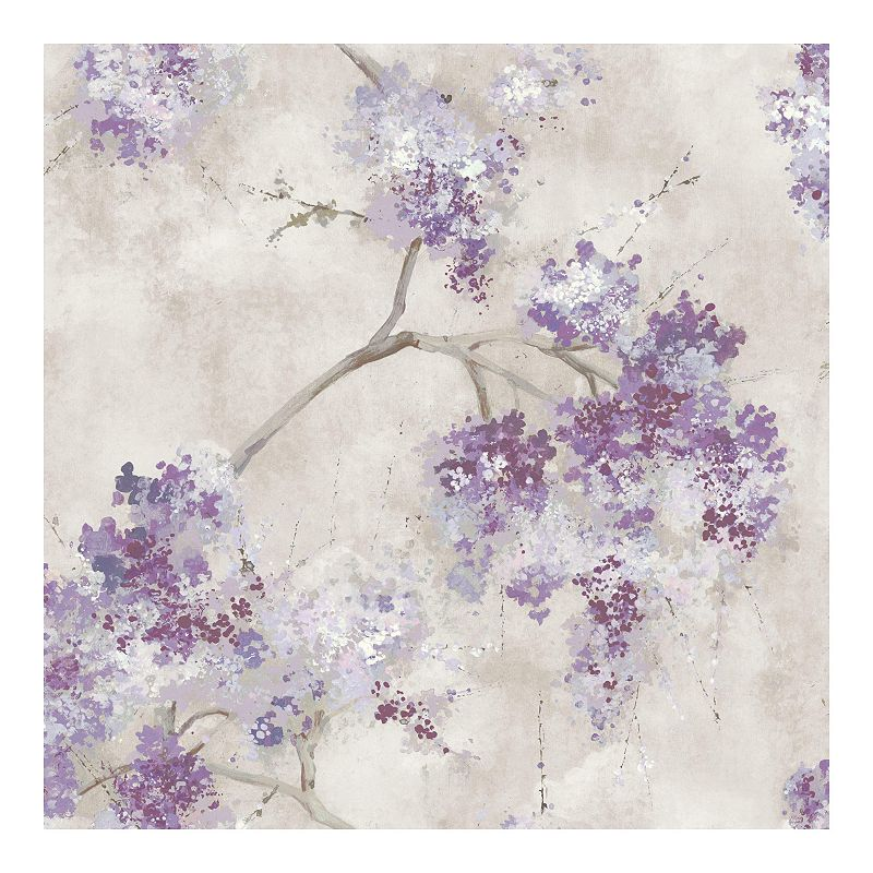 RoomMates Weeping Cherry Tree Blossom Wallpaper. Purple