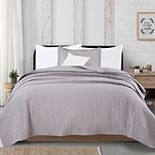 Great Bay Home Alicia Channel Stitch Quilt and Sham Set