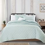 Great Bay Home Athena Dot Stitch Quilt and Sham Set