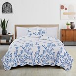 Great Bay Home Raelynn Fading Floral Quilt and Sham Set