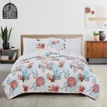 Great Bay Home Seabreeze Coastal Quilt and Sham Set