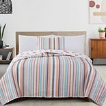 Great Bay Home Key Largo Coastal Quilt and Sham Set