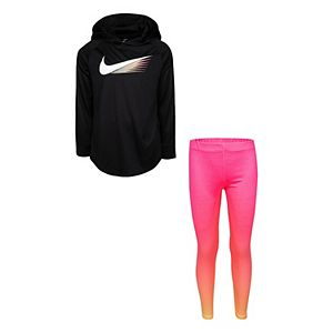 Girls 4-6x Nike Dri-FIT Hoodie & Leggings Set