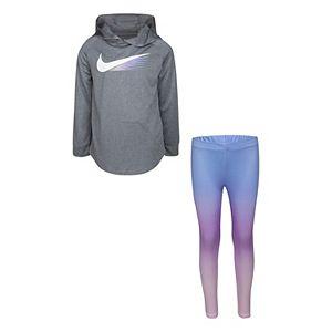 Girls 4-6x Nike Dri-FIT Hoodie & Leggings Set